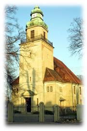kościół protestancki w Morasku wraz z plebanią