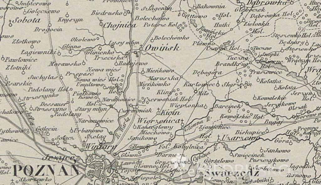 mapka 1859 biedrusko