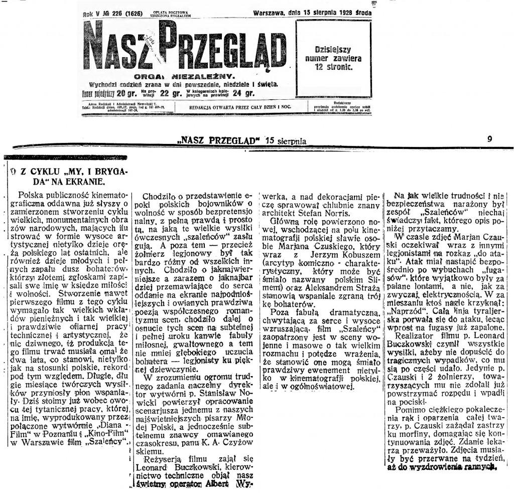 02a Nasz Przegląd R.6, nr 226 (15 sierpnia 1928) montaz