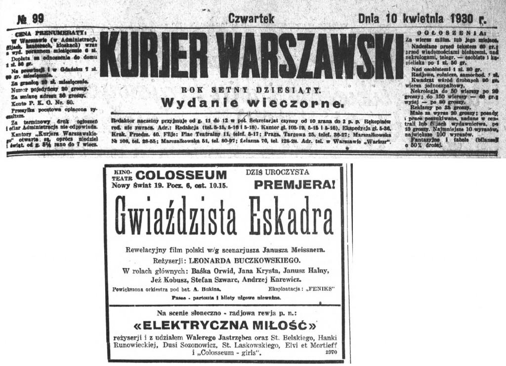 03.1 Kurjer Warszawski 10 kwietnia 1930