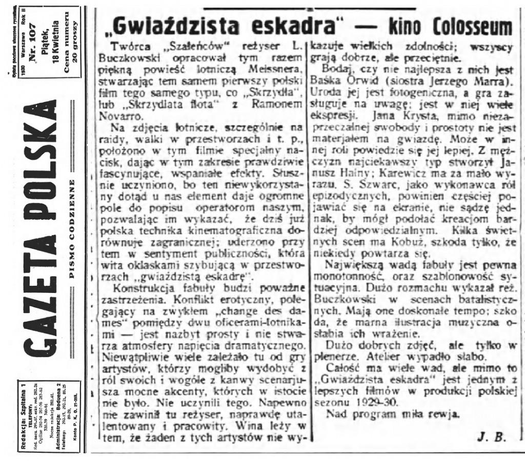 06 Gazeta Polska pismo codzienne R.2, nr 107 (18 kwietnia 1930)