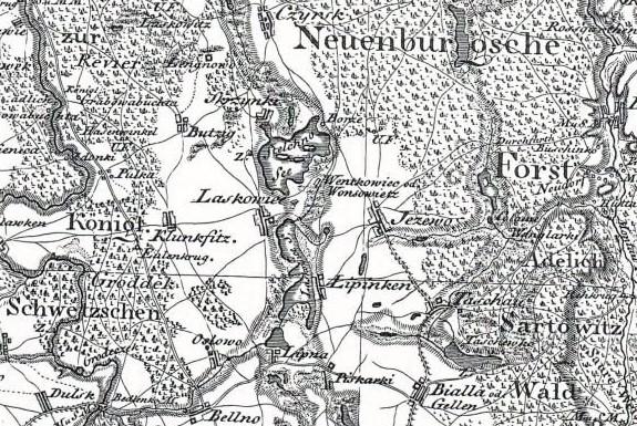 Mapa Schrottera 1796-1802
