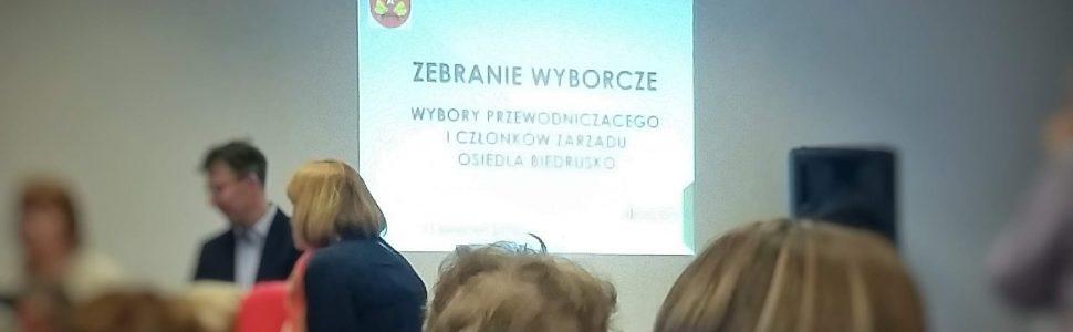 Relacja z Wyborów Przewodniczącego i Członków Zarządu Osiedla Biedrusko