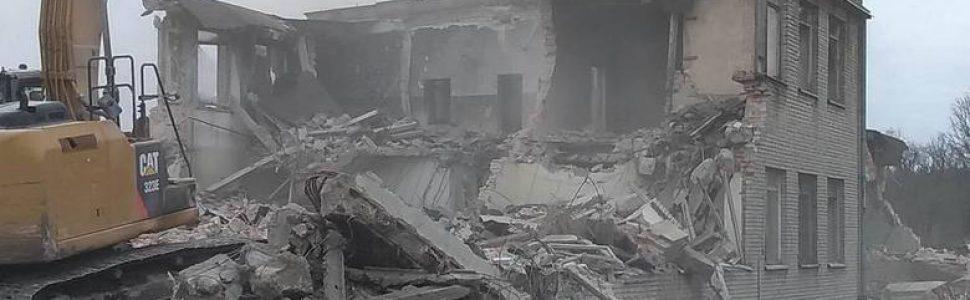 Po wyburzeniu zwyżki centralnej w Biedrusku